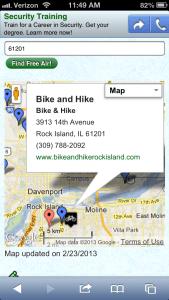 bike shop featured listing