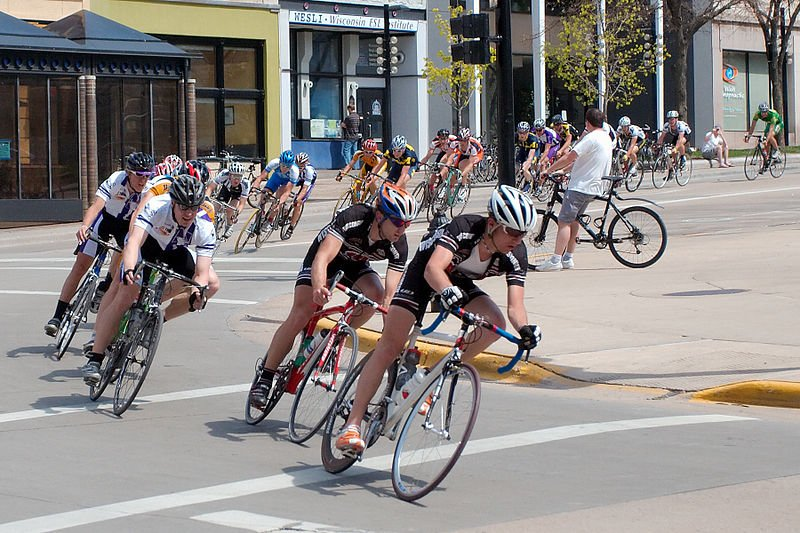 cycling race in Madison, WI