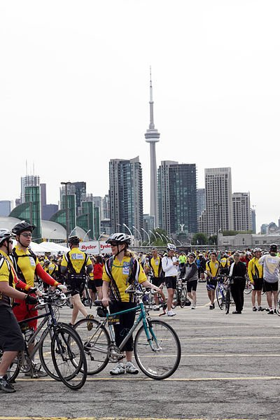 charity bike ride to conquer cancer