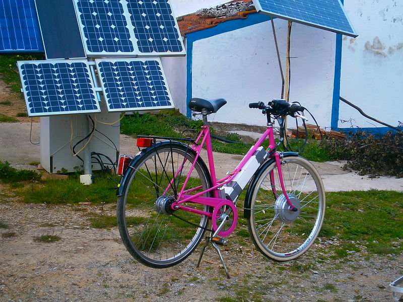 electric bike with solar panels