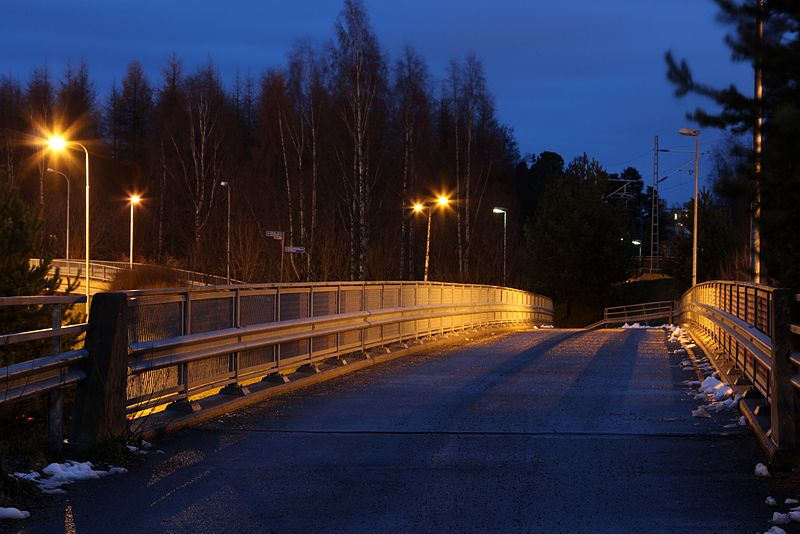 night cycling bridge