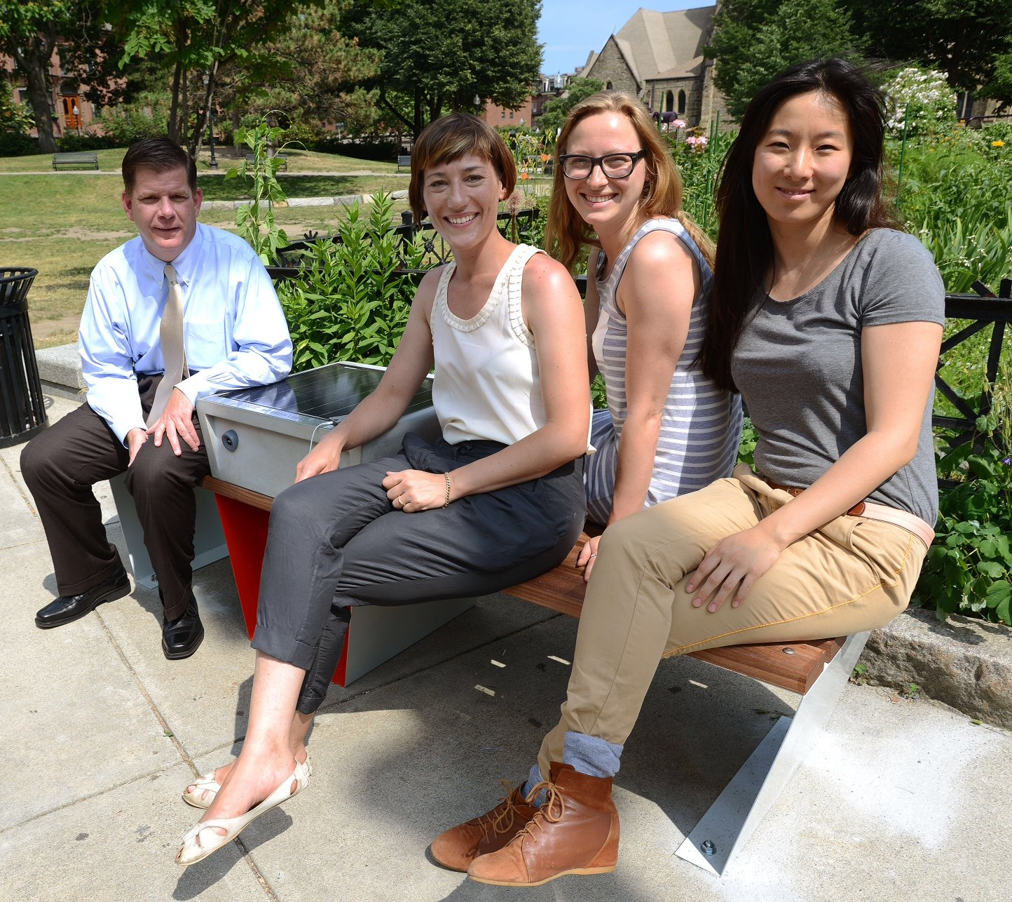 solar powered smart bench creators